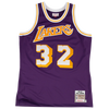Mitchell and Ness Swingman Jersey Los Angeles Lakers Johnson 32 Road 84-85 Purple