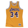 Mitchell and Ness Swingman Jersey Los Angeles Lakers Shaquille O'Neal 34 96-97 Yellow