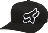 Fox Youth Flex 45 Flexfit Hat Black/White