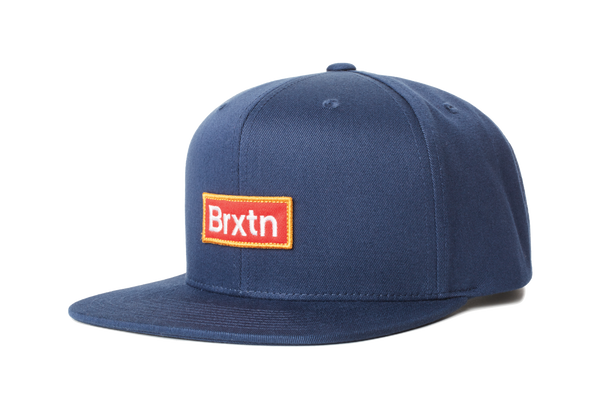 Brixton Gate III Snapback Washed Navy