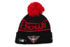 New Era Pom Knit Essendon Bombers