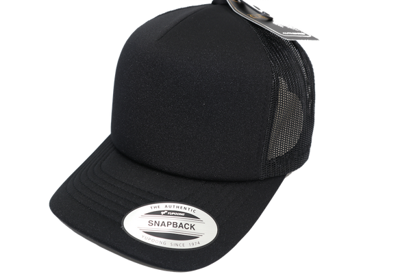 Flexfit Hi Crown Trucker Black