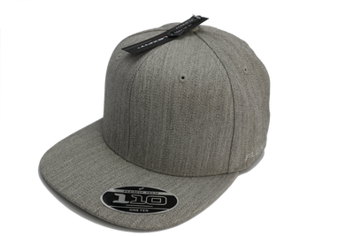 Flexfit 110 Premium Flat Peak Heather Grey