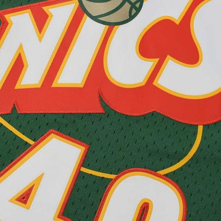 Mitchell and Ness Swingman Jersey Seattle Supersonics Shawn Kemp Road 95-96 Green