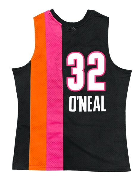 Mitchell and Ness Swingman Jersey Miami Heat Shaquille O'Neil 32 05-06 Black