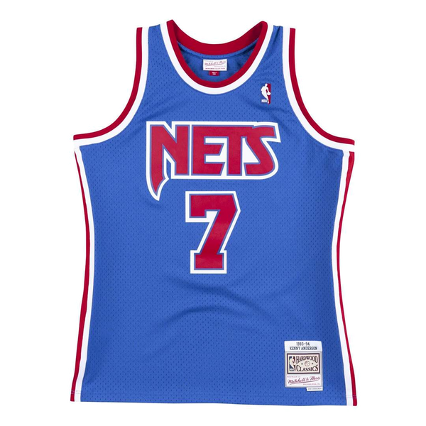 Mitchell and Ness Swingman Jersey Brooklyn Nets Kenny Anderson 7 93-94 Royal