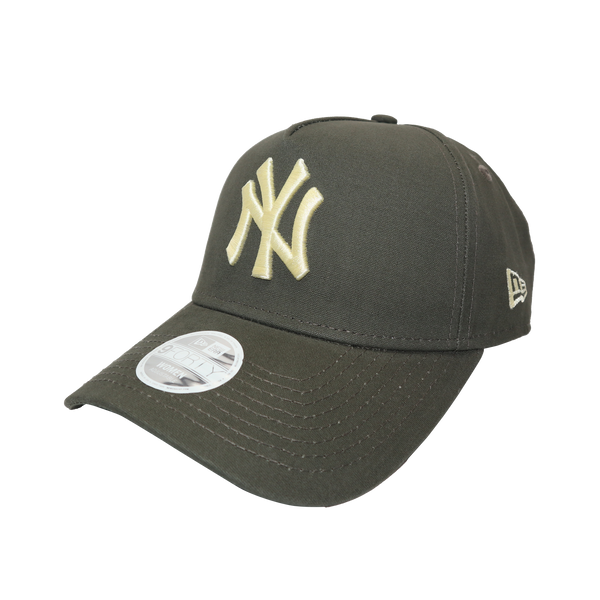 New Era Womens 9Forty A-Frame Clothstrap New York Yankees Olive