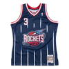 Mitchell and Ness Swingman Jersey Houston Rockets Steve Francis 3 99-00 Navy