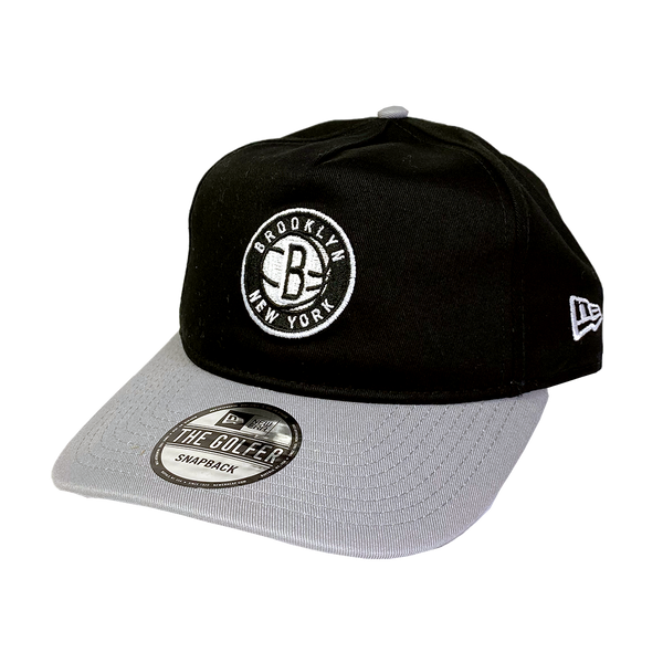 New Era Golfer Snapback Brooklyn Nets Black Team