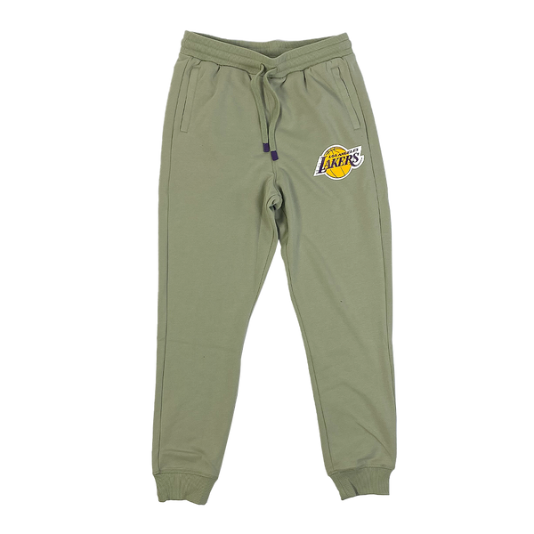 Mitchell and Ness Hometown Fleece Jogger Los Angeles Lakers Olive Tea