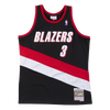 Mitchell and Ness Swignman Jersey Trail Blazers Stoudamire 3 Road 99-00 Black