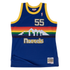 Mitchell and Ness Swingman Jersey Denver Nuggets Dikembe Mutombo 55 Road 91-92 Royal