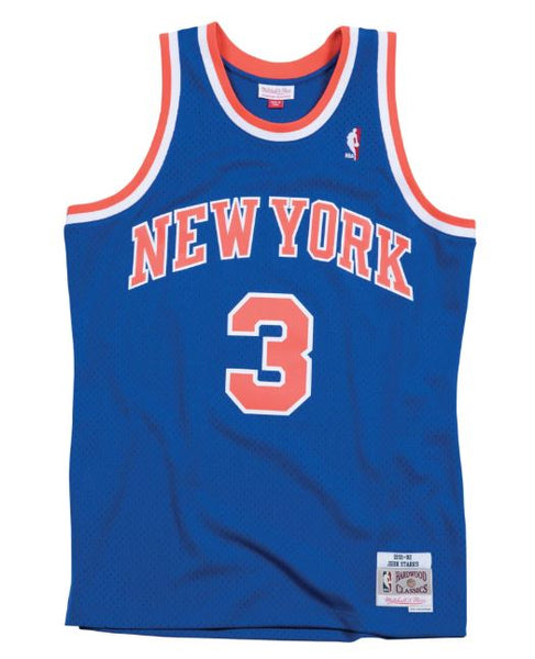 Mitchell and Ness Swingman Jersey New York Knicks John Starks 3  Royal