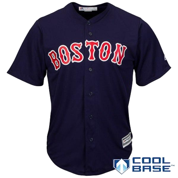 Majestic Athletic Alt 2 Replica Team Blank Boston Red Sox Navy Youth