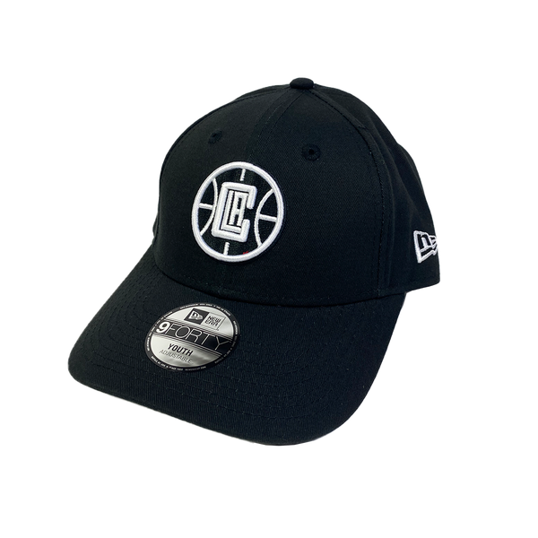 New Era Youth 9Forty Velcro Strapback Los Angeles Clippers Black/White