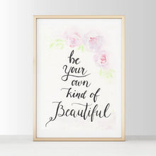 Be Your Own Kind Of Beautiful - White Tribe Fox Wall Print