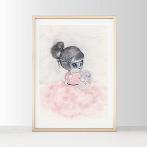 Madeline - White Tribe Fox Wall Print