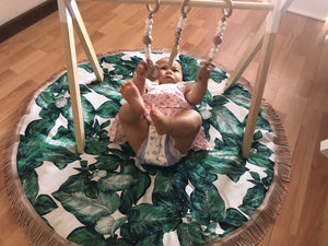Miss Angel Ilaria Green Palm Tassel Playmat