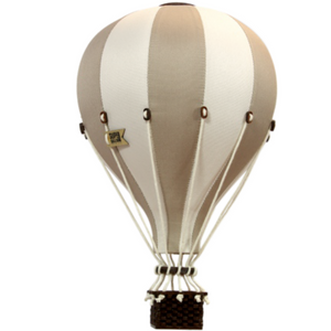 hot air ballon decor beige