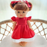 Doll's Christmas Bella Dress & Bow Set