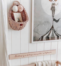 LiLu Wicker Wall Basket Dusty Pink