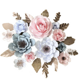 Paper Flower Creations - Pastel Rose Blooms