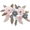 Paper Flower Creations - Pale Pink & Charcoal Blooms