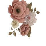 Paper Flower Creations -  Pink, Lemon & White Blooms