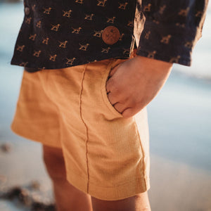 My Brother John Duke Tailored Shorts - Marigold Yellow