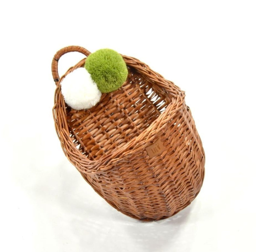 LiLu Wicker Wall Basket Natural