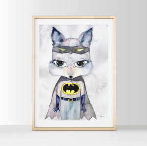 Mr Alex - White Tribe Fox Wall Print