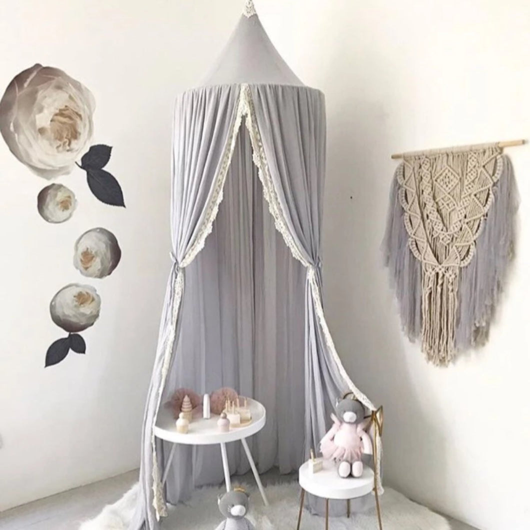 Spinkie Baby Macrame Hanging Light Grey