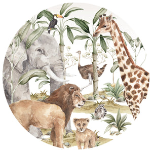 Dekornik Savanna in a Circle Wall Decal