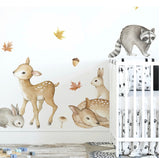 Ginger Monkey Woodlands Animals Wall Decal