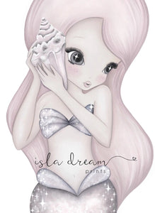 Isla Dream Coral the Mermaid Print