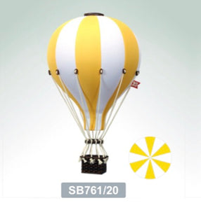 Decorative Hot Air Balloon - Bright Yellow
