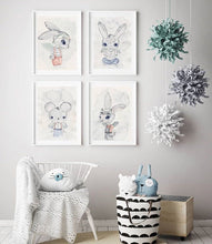Hunter - White Tribe Fox Wall Print