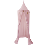 Spinkie Baby Sheer Canopy Dusty Pink & Garland Set