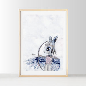 Mr Eagle Eye - White Tribe Fox Wall Print