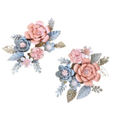 Paper Flower Creations -  Pink & Pastel Grey Blooms