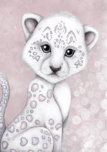 Isla Dream Prince the Snow Leopard Print (Pink or Grey)