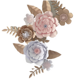 Paper Flower Creations - Pink & Rose Gold Blooms