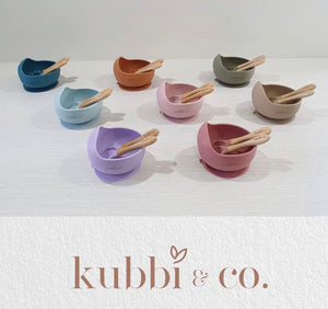 Kubbi & Co Silicone Suction Bowl Sets
