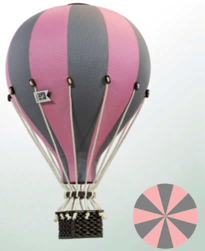 Decorative Hot Air Balloon - Pink & Grey