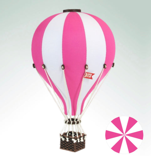 Decorative Hot Air Balloon - Bright Pink