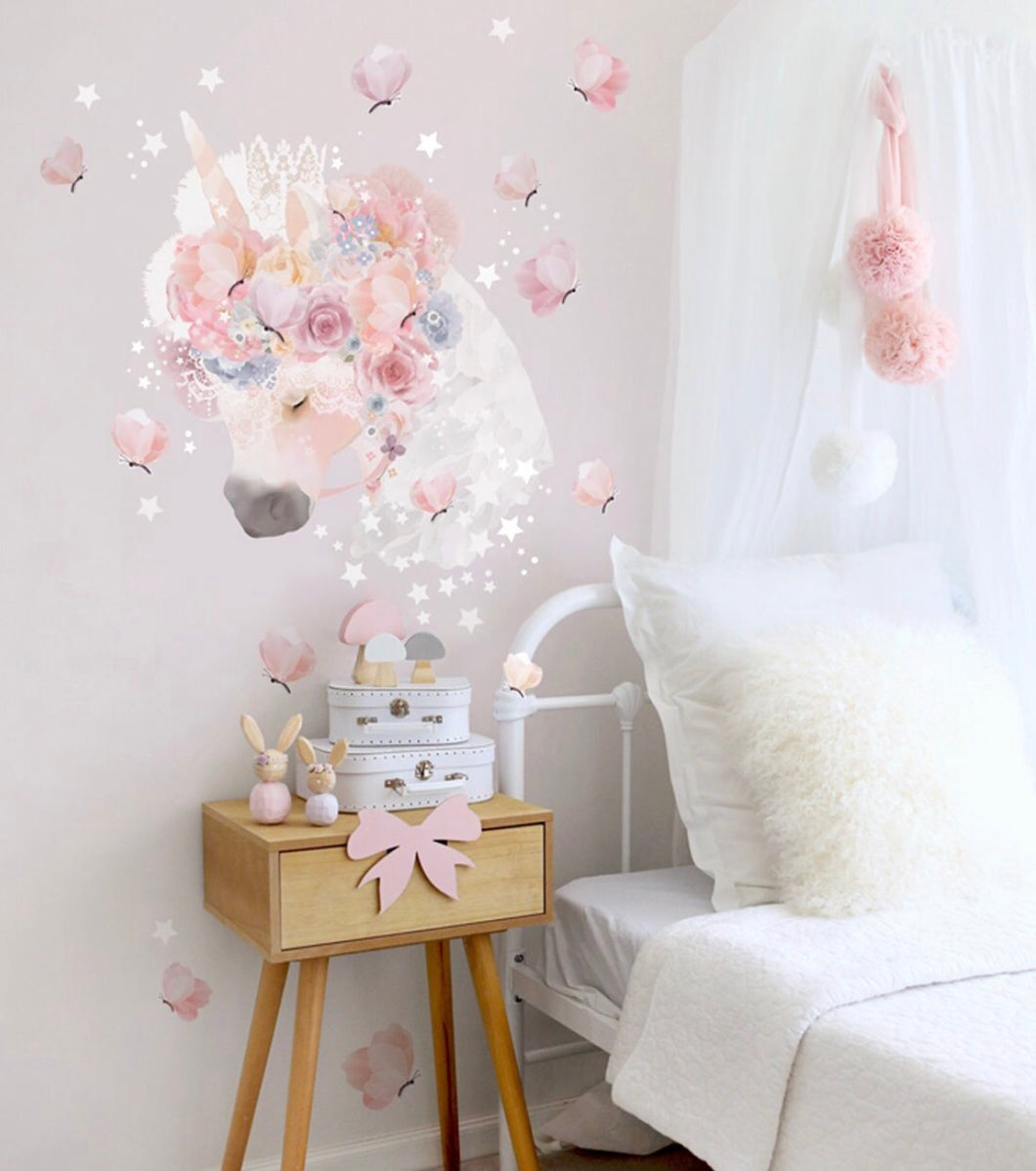 Schmooks Unicorn & Butterflies Wall Decal