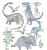 Ginger Monkey Watercolour Dinosaurs Wall Decals