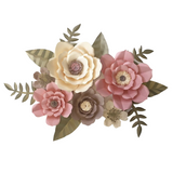 Paper Flower Creations - Pink & Cream Blooms