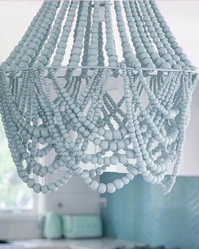 Elok Small Beaded Chandelier Light