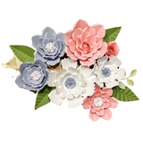 Paper Flower Creations - White, Grey & Pink Blooms